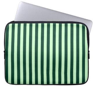Capa Para Notebook Listras finas - luz - verdes e verdes escuro