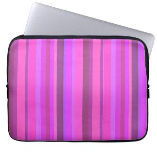 Capa Para Notebook Listras verticais cor-de-rosa