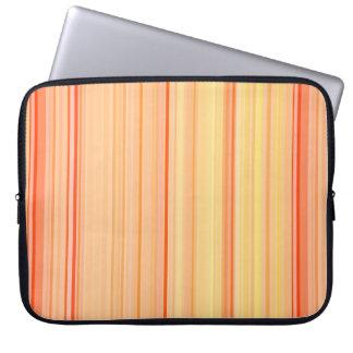 Capa Para Notebook Listras verticais listradas amarelos alaranjado