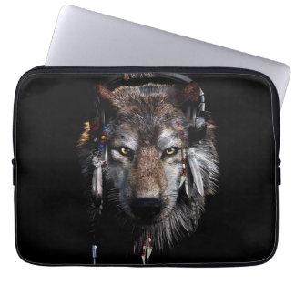 Capa Para Notebook Lobo indiano - lobo cinzento