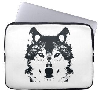 Capa Para Notebook Lobo preto da ilustração