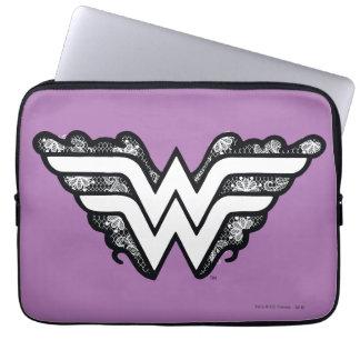 Capa Para Notebook Logotipo preto do laço da mulher maravilha