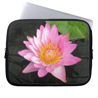 Capa Para Notebook Lotus cor-de-rosa Waterlily
