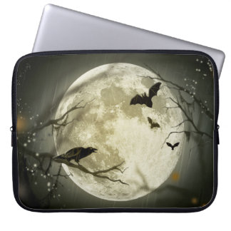 Capa Para Notebook Lua do Dia das Bruxas - ilustração da Lua cheia