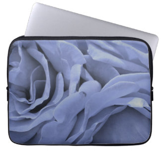 Capa Para Notebook Luz delicada - os rosas das cinzas azuis florescem
