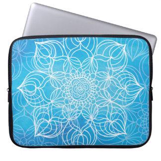 Capa Para Notebook Mandala azul
