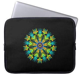 Capa Para Notebook Mandala elétrica do fogo do gelo