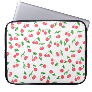 Capa Para Notebook mão bonito teste padrão tirado da cereja da