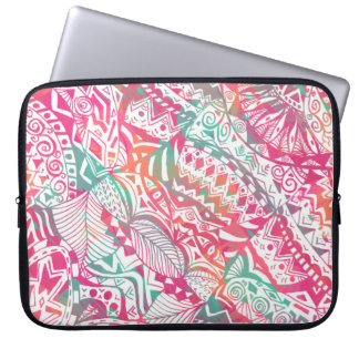 Capa Para Notebook mão feminino teste padrão floral tribal