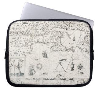Capa Para Notebook Mapa do mundo medieval Quebeque Novo-France