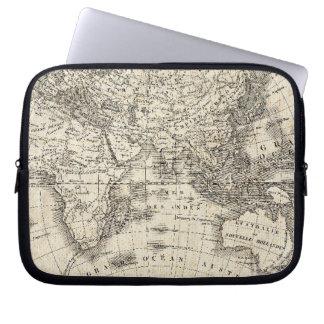 Capa Para Notebook Mapa do vintage de Europa e de Ásia