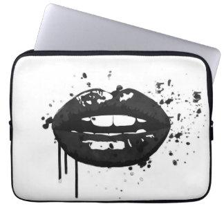 Capa Para Notebook Maquilhador à moda do beijo da forma dos lábios