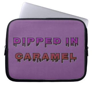 Capa Para Notebook Mergulhado na bolsa de laptop do caramelo 10