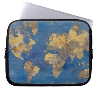 Capa Para Notebook Mundo dourado