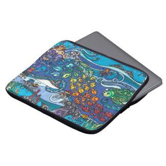 """Capa Para Notebook Neopreno 13"""" a bolsa de laptop: Sob a série do mar"""