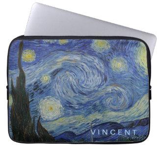 Capa Para Notebook Noite estrelado Vincent van Gogh personalizado