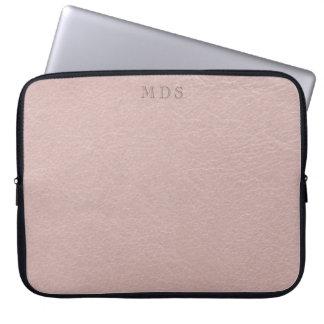 Capa Para Notebook O falso cora a bolsa de laptop de couro