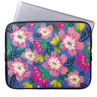 Capa Para Notebook O rosa floresce a bolsa de laptop do neopreno