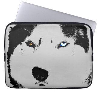 Capa Para Notebook O rouco Siberian da caixa ronca do laptop Eyes