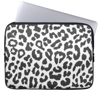 Capa Para Notebook Padrões pretos & brancos da pele animal do