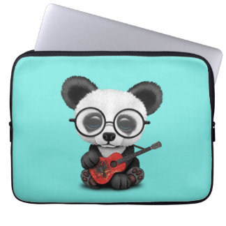 Capa Para Notebook Panda do bebê que joga a guitarra albanesa da
