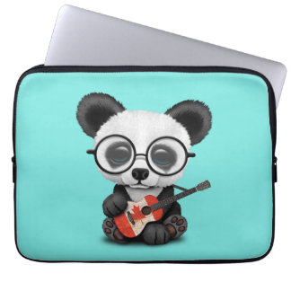 Capa Para Notebook Panda do bebê que joga a guitarra canadense da
