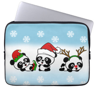 Capa Para Notebook Pandas do Natal