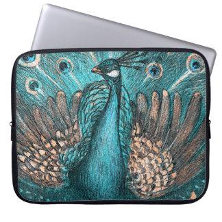 Capa Para Notebook pavão azul