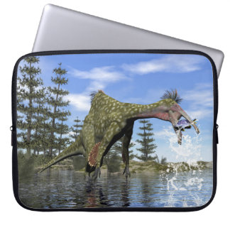 Capa Para Notebook Pesca do dinossauro do Deinocheirus - 3D rendem