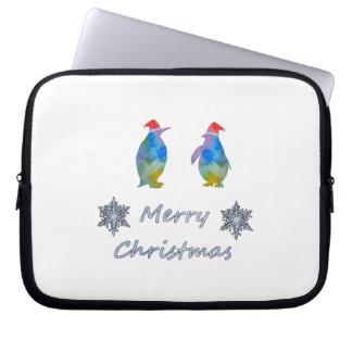Capa Para Notebook Pinguins do Natal