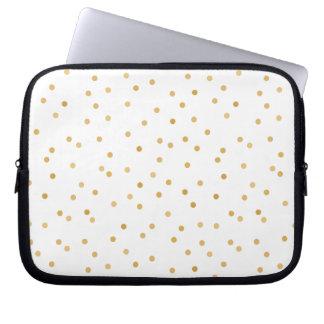 Capa Para Notebook Pontos modernos elegantes dos confetes do ouro
