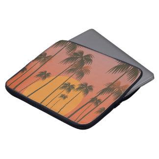 Capa Para Notebook Por do sol tropical sereno & bolsa de laptop das