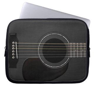 Capa Para Notebook Preto da guitarra