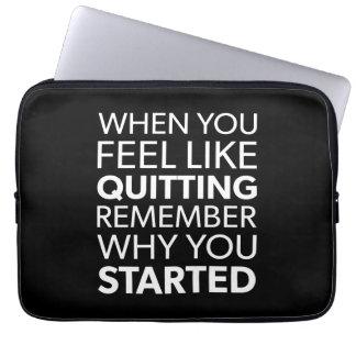 Capa Para Notebook Recorde porque você começou - o exercício