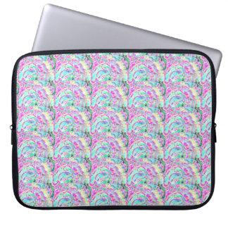 Capa Para Notebook Saco colorido bonito dos eletrônicos da arte, luva