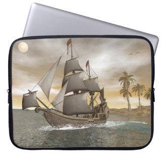 Capa Para Notebook Sair do navio de pirata - 3D render.j