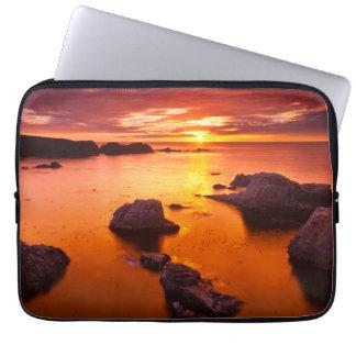 Capa Para Notebook Seascape alaranjado, por do sol, Califórnia