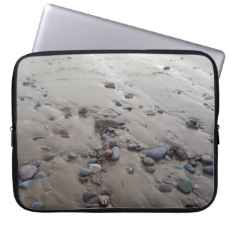 Capa Para Notebook Seixos na bolsa de laptop da areia
