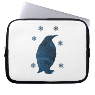 Capa Para Notebook Silhueta do pinguim