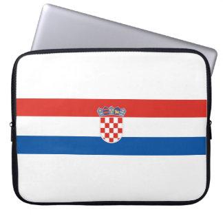 Capa Para Notebook Símbolo da bandeira de país de Croatia por muito