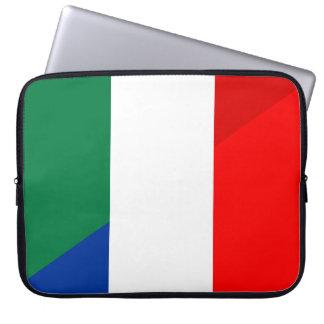 Capa Para Notebook símbolo do país da bandeira de Italia france meio