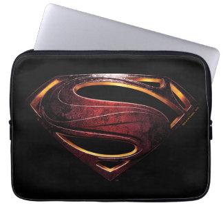 Capa Para Notebook Símbolo metálico do superman da liga de justiça |