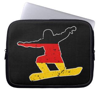 Capa Para Notebook SNOWBOARDER alemão da bandeira (branco)