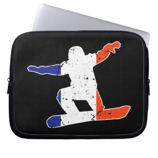 Capa Para Notebook SNOWBOARDER Tricolor francês (branco)