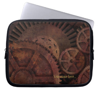 Capa Para Notebook Steampunk alinha a maquinaria industrial