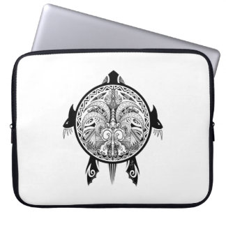 Capa Para Notebook Tatuagem tribal do protetor da tartaruga