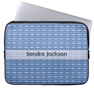 Capa Para Notebook Teste padrão azul bonito personalizado