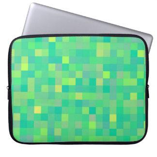 Capa Para Notebook Teste padrão de mosaico verde/amarelo na moda à
