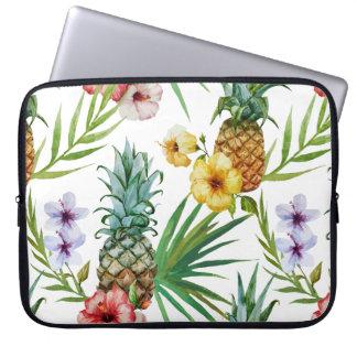 Capa Para Notebook Teste padrão tropical do abacaxi da aguarela do