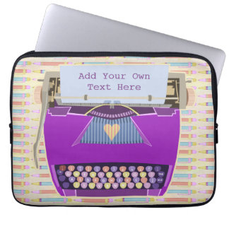 Capa Para Notebook Texto personalizado moderno retro bonito da
